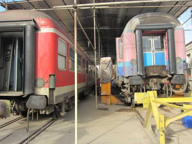 مسقف کردن سقف قطارهای مهتاب سیر توسط کیان صنعت شهباز شرکت ریلی تعمیرات واگن