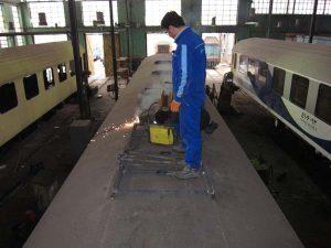 تعمیرات اساسی واگن های مسافری مولد آلمان غربی رجا و کیان صنعت شهباز