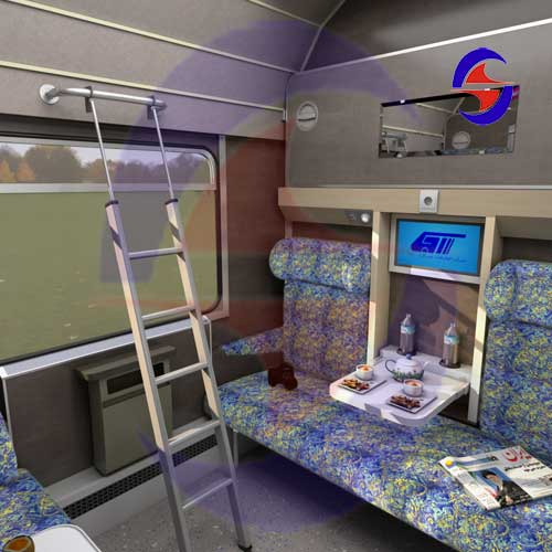 طراحی داخلی واگن و قطار شرکت فنی مهندسی کیان صنعت شهباز