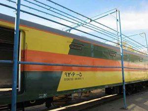 پایان تعمیرات اساسی واگن قطار پست و توشه کیان صنعت شهباز